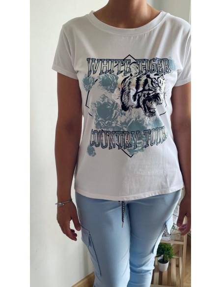 Camiseta Tigre Azul